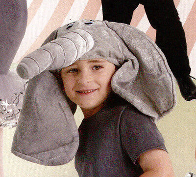 NWT Dance Theatrical Elephant headpiece Hat Childs Gray Fake fur Costume Item