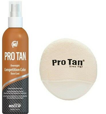 Pro Tan Overnight Competition Color Suntan Brown, 8.5 oz. 1 or 2 Bottle Packs