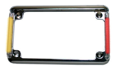 Motorcycle plate frame with red run/brake & amber turns