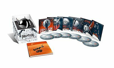 PHANTASM 1-5 Collection BOX 6 BLURAY+BOOK+SPHERE Limited in Inglese NEW .cp