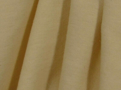 "Organic Cotton Flannel Fabric - 60 and 110"" Wide - Natural Color"