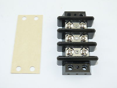 KULKA 603 3 Position Terminal Block With Insulator Cover NEW
