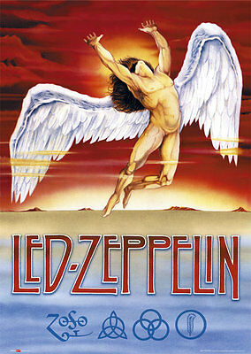 LED ZEPPELIN - SWAN SONG MUSIC POSTER - 24 x 36 BAND 51530