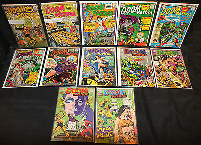 Doom Patrol LOT of 12 Issues in #91 to #120 - 1960's (Grades 2.0 - 6.0) WH