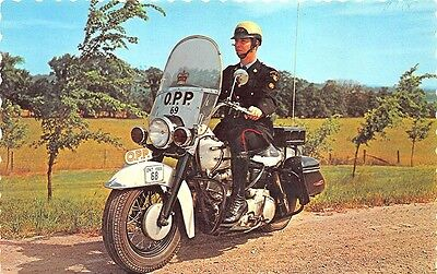 Ontario Canada 1966 Provencial Police Motorcycle Mounted Force Postcard