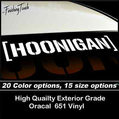 HOONIGAN windshield Banner Vinyl Decal Sticker Ken Block Drift JDM subaru wrx