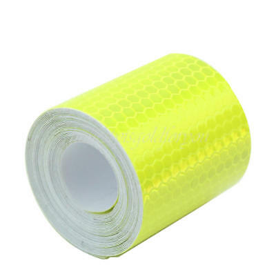 3m Fluorescence Yellow Reflective Safety Warning Tape Film Sticker Roll Strip
