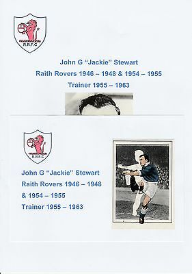 Jackie Stewart Raith Rovers 1946-1948/1954-1955 Rare Orig Signed Picture Cutting