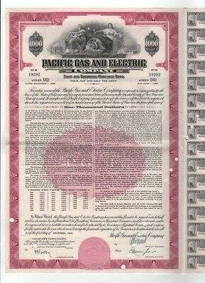 1958 Pacific Gas and Electric Company Bond