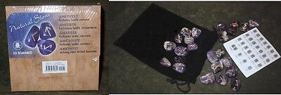 Amethyst Crystal Viking Runes NEW Sealed Box 25 Engraved Stones Bag Instructions