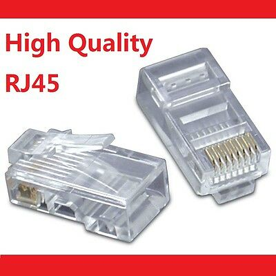 50 X RJ45 CAT5e CAT5 CAT6 Modular Plug Network Connector - Brand New