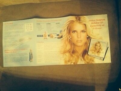JESSICA SIMPSON HOLIDAY CD RETAILER SELL SHEET 2005 RARE EXCLUSIVE 7-Eleven MINT