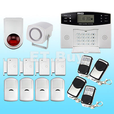 New Home House Office Burglar Security Alarm SMS GSM Autodial Wireless LCD