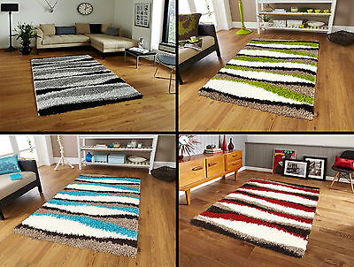 New X Large Modern 5cm Thick Waves Design Shaggy Rug Soft Pile Carpet Mat Rugs