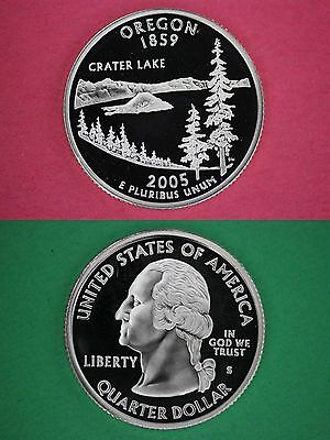 Silver 2005-S Oregon Proof State Quarter Cameo Flat Rate Shipping