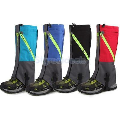 2-Layer Waterproof Snow Legging Boot Gaiters Leg Covers Rugged Walking Trekking