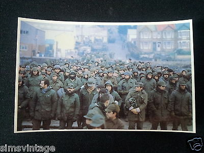 Military Postcard Falklands War South Atlantic Thousands of Prisoners Assembled