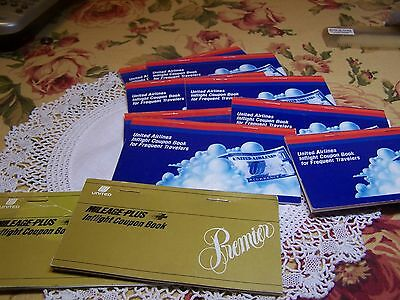 Lot of 10 Vintage United Airlines Inflight Memorabilia 1960s