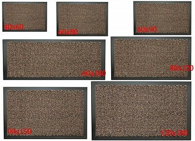 Large Non-Slip Brown Entrance Floor Door Mat Heavy Duty Commercial Barrier Mats
