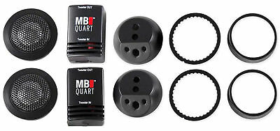 "(2) MB Quart DT1-25 1"" Car Audio Component Tweeters+Crossovers CEA Rated - Loud!"