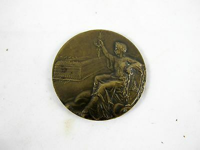 French Bronze Medallion With Royal Monogram On One Side C 1900