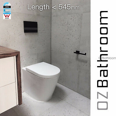 Wall faced floor pan in wall recessed concealed cistern Toilet Suite OZB102
