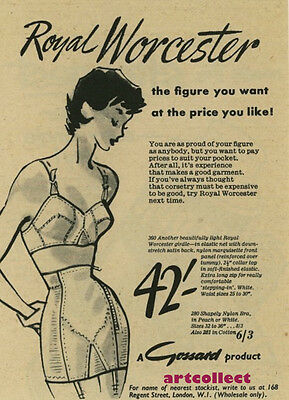 Original Vintage British Ad: Royal Worcester. Gossard. (1955)