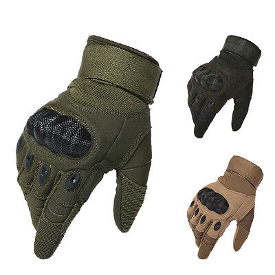 Tactical Airsoft Paintball Motorcycle Cycling Outdoor Knuckle Full Finger Gloves