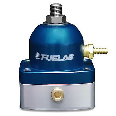 Fuelab High Flow Fuel Pressure Regulator In Line Return 25-90 Psi- Blue / Silver