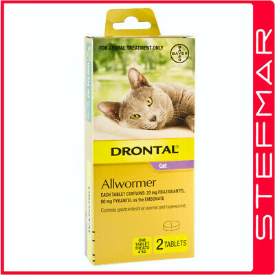Bayer Bay-O-Pet Drontal Allwormer for Cats 4kg Tablet 2Pack