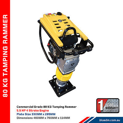 NEW Tamping Rammer Petrol BDM 80KG 5.5HP - Jumping Jack