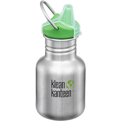 Kid Kanteen 355ml Water Bottle with Sippy Cap Camping Brushed Stainless Steel
