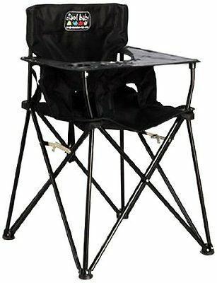 CIAO! BABY HIGH CHAIR, Black Folding Portable Todler HIGHCHAIR, HB2000
