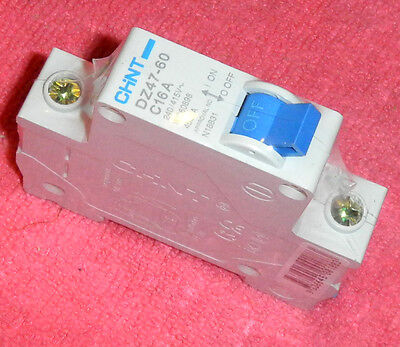 CHINT miniature Circuit Breaker 1 POLE TYPE C,16A -  NEW   (B1-11)
