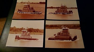 1983 Photos (Tugs onMississippi River in New Orleans) Set of 4/ Details #C