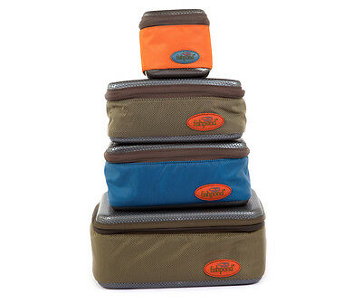NEW FISHPOND SWEETWATER REEL CASE SMALL ORANGE fly fishing padded molded tools