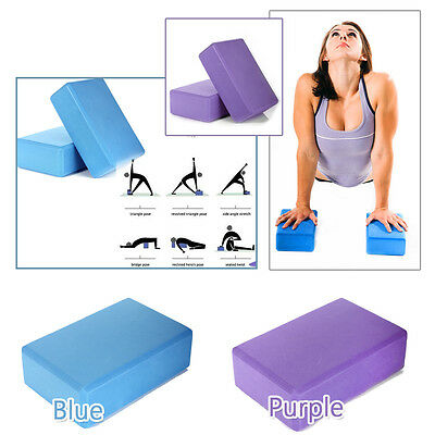 1x 2x Yoga Block Brick Foaming Home Exercise Practice Fitness Sport Tool New Au