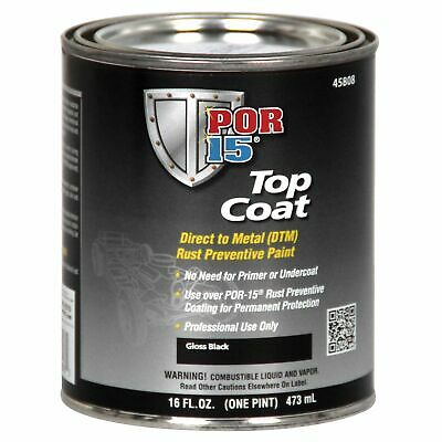 POR15 Silver Topcoat Paint For Rust Treated Car/Vehicle Metal - 473ml Tin