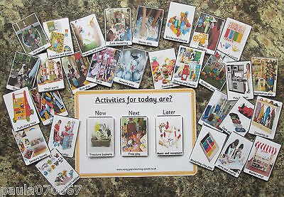 Now and Later activities board ~ Pre-School and Childminders ~ Colour cards ~