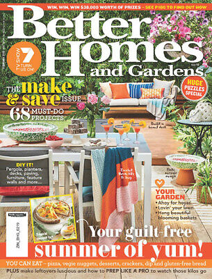 BETTER HOMES AND GARDENS February 2019 - Summer of Yum - NEW