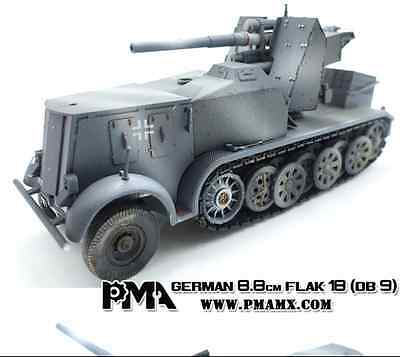 PMA P0307 1/72 German sd.kfz.8 DB9 FLAK18 88mm