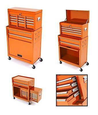 Motorcycle Mechanics Steel Tool Box Chest Roller Cabinet Ktm Orange