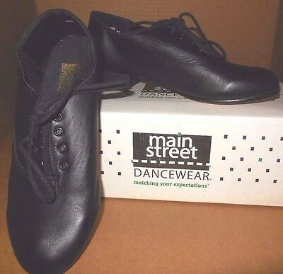 NW/BOX Leather Character Ballroom Oxfords Black Leather Sole unisex Runs small