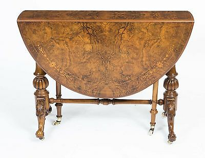 Antique Victorian Walnut Inlaid Sutherland Table c.1870