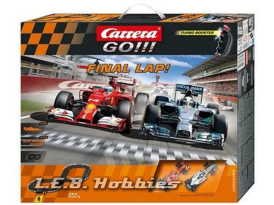 Carrera GO!!! Final Lap 1/43 analog slot car race set 62365