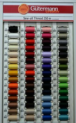Gutermann Sew-All Thread 250m Sewing Thread 100% Polyester, Select Colour