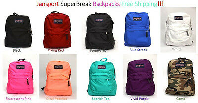 Jansport Superbreak Backpack Original 100% Authentic Nwt!!!