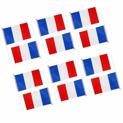 12PCs Handheld Hand Waving National Flags Small Banners & Poles - CHOOSE Country
