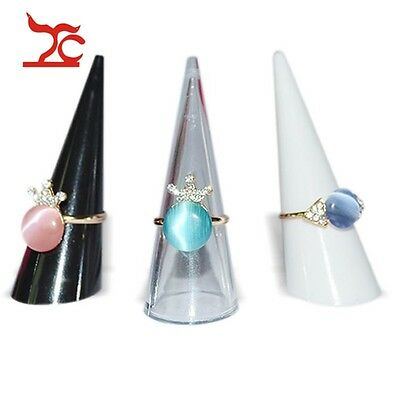 3pcs Plastic Finger Cone Ring Stand Jewelry Display Holder Retail Factory Price