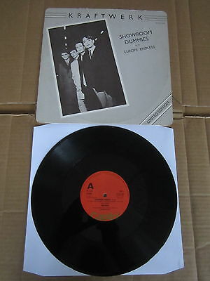 "KRAFTWERK Showroom Dummies / Europe Endless 12"" RARE 1977 ORIGINAL UK 1ST ISSUE"
